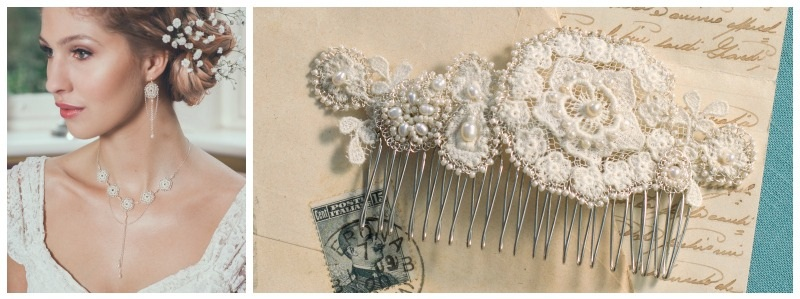 judith sliding banner vintage lace bridal