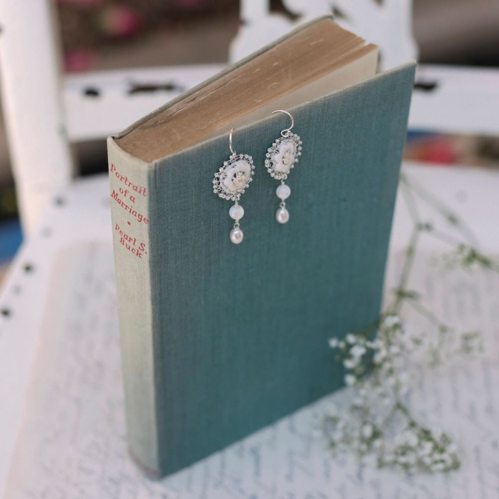 Anemone Lace Drop Earrings