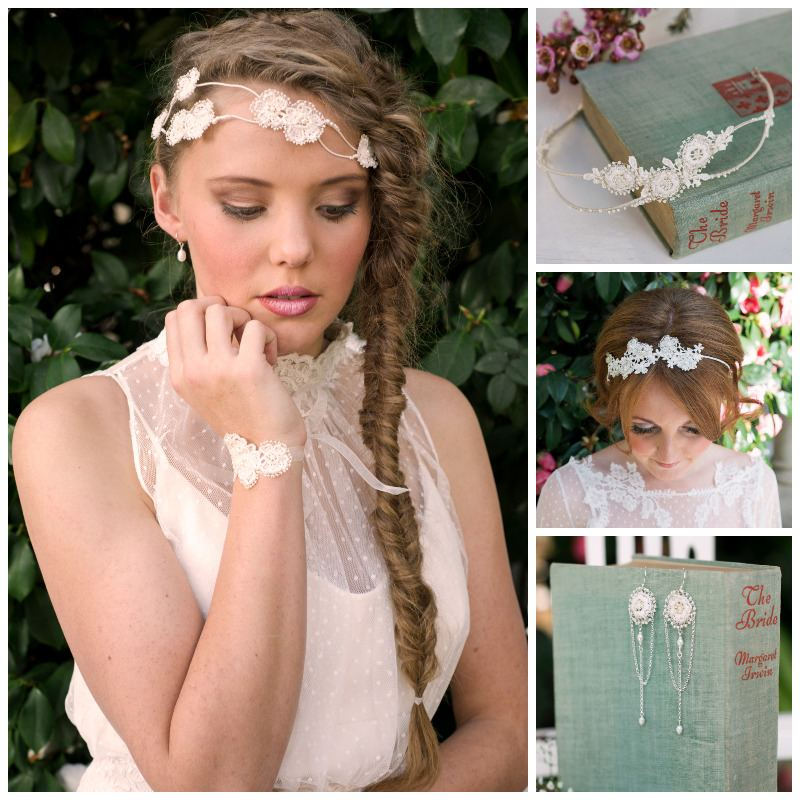 Lace and Pearl Bridal Accessories
