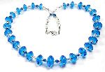Ondine - graduated sea blue bicones with aurora borealis crystals
