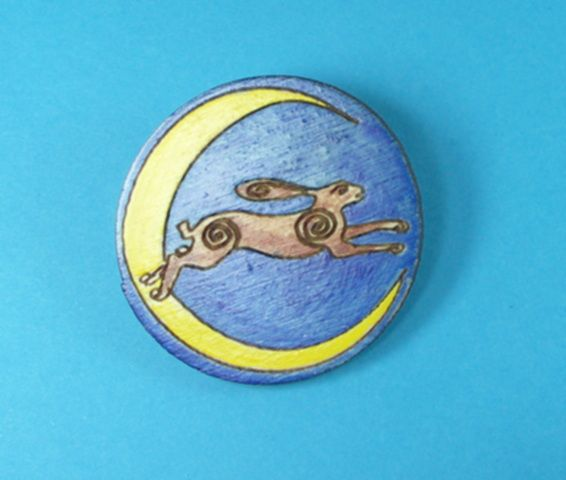 Painted Brooches - Animals