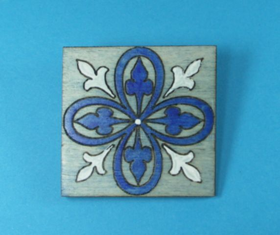 Painted Brooches - Geometrics