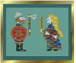 Shieldbearers - cross stitch design