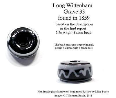 Long Wittenham - Grave 33 - Anglo-Saxon bead