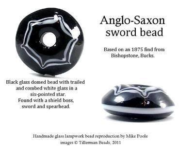 Sword Bead - Bishopstone - Anglo-Saxon, BUCKS