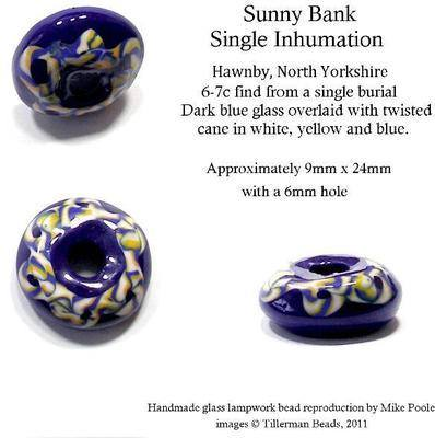 Sunny Bank - Anglo Saxon bead, North Yorkshire