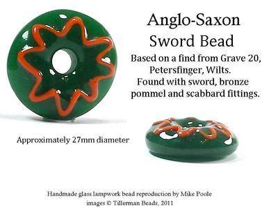 Sword Bead  -  Petersfinger Grave 20
