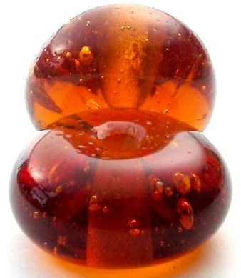 'Amber' glass bead based on finds fromViking-era Jorvik