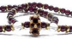 'Aelfwyn' Anglo-Saxon inspired necklace with lampwork focal, garnet and rock crystal