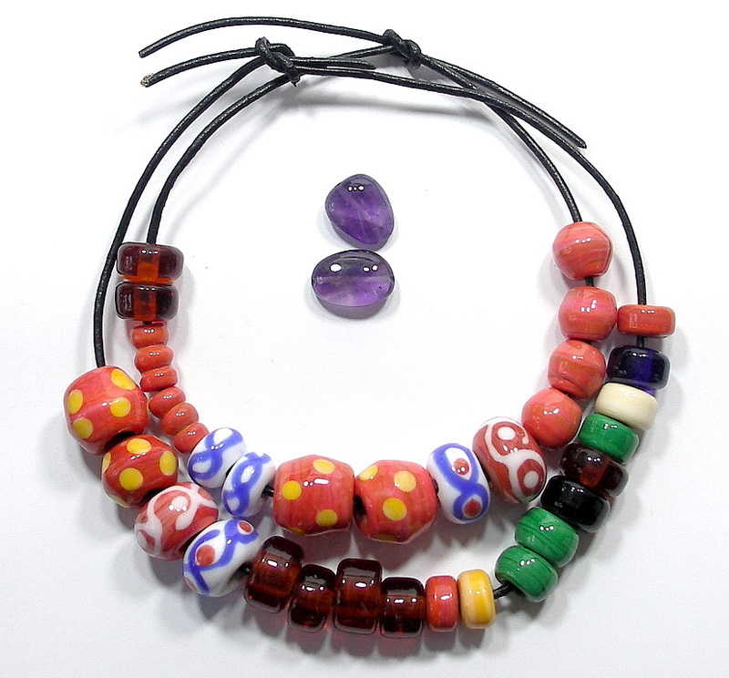 Beads created for the Sutton Hoo museum