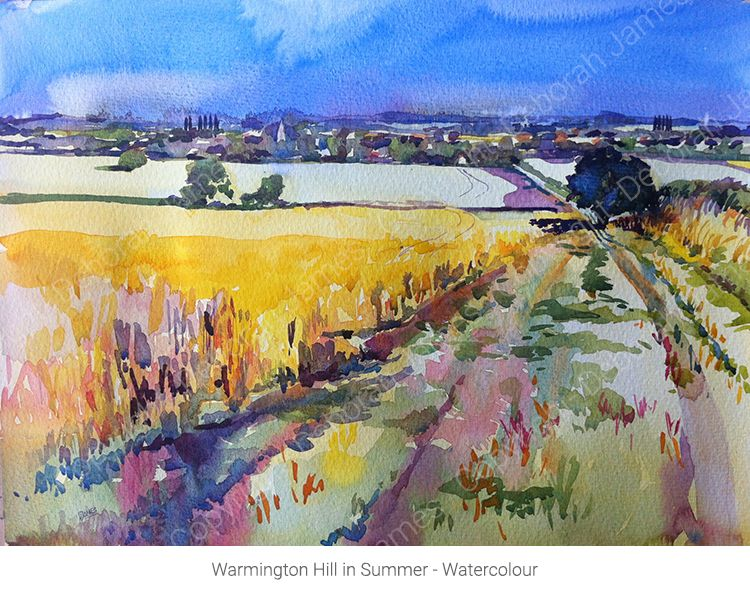 Warmington Hill in Summer - Watercolour