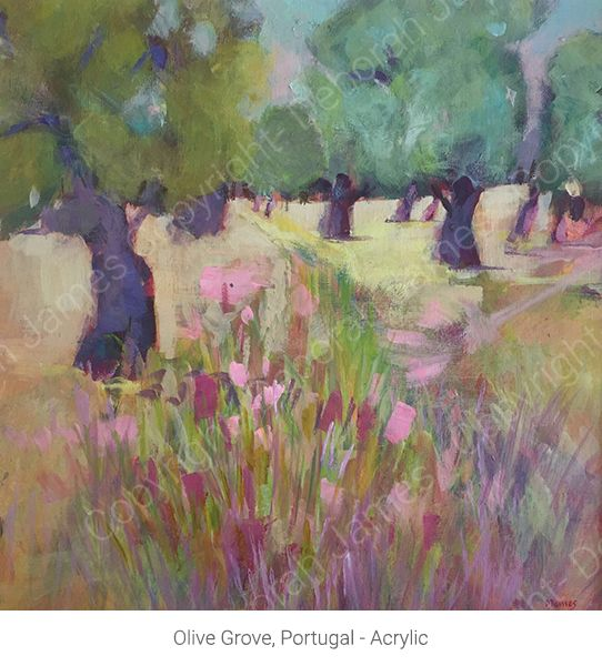 Olive Grove, Portugal - Acrylic