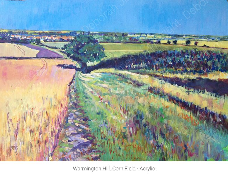 Warmington Hill. Corn Field - Acrylic
