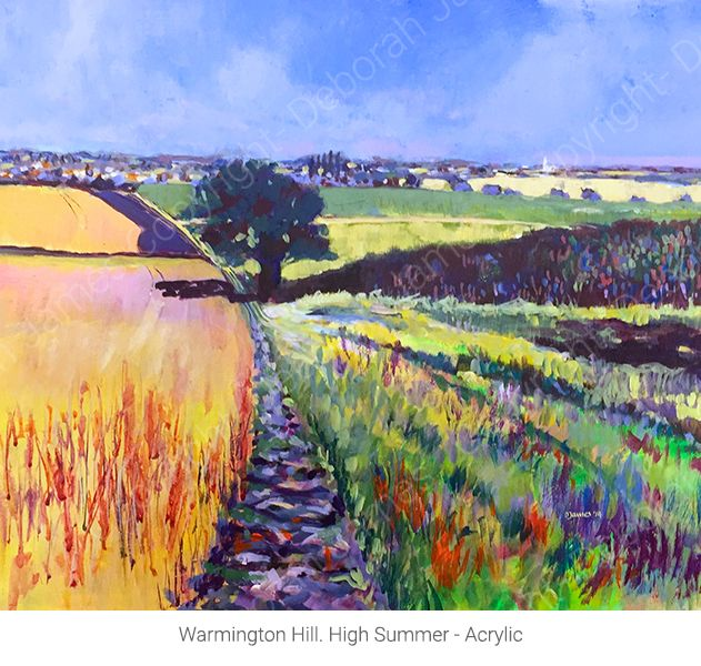 Warmington Hill. High Summer - Acrylic