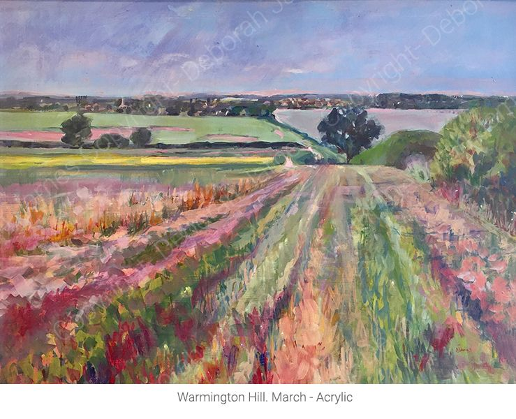 Warmington Hill. March - Acrylic