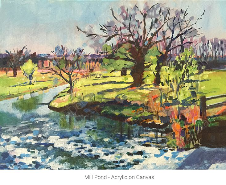 Mill Pond - Acrylic on Canvas