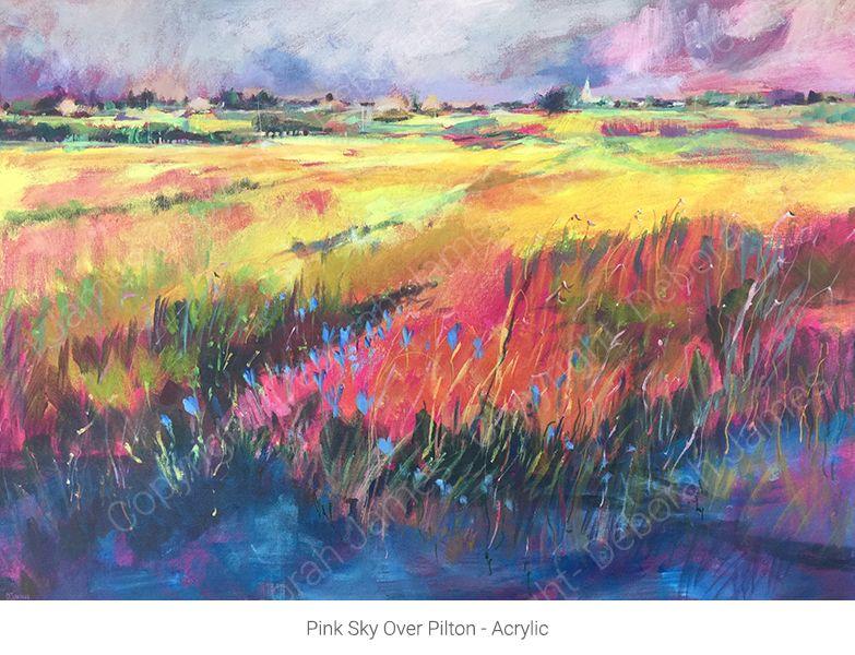 Pink Sky Over Pilton - Acrylic