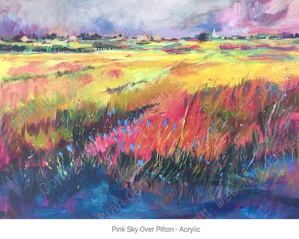 Pink Sky Over Pilton - Acrylic HOMEPAGE