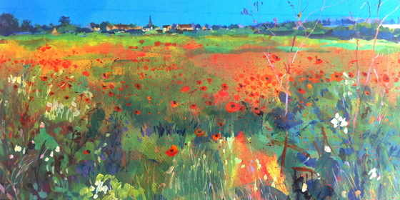 Oundle poppies ll. Acrylic