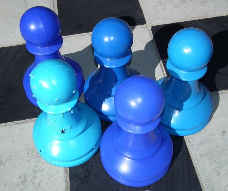 blue pawns