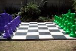 milo green and lilac chess set