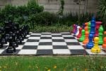 mixed colours and black chess set