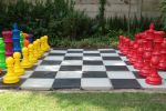 mixed colours and red chess set