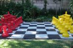 red and yellow chess set