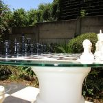chess pieces on chess table