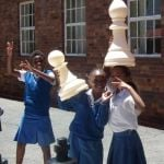St vincents - happy girls and chess pieces