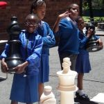 st vincents school for the deaf with their new bigchess set