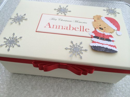 Personalised Baby's First Christmas Keepsake Box, Memory Box
