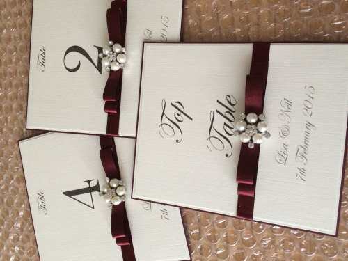 A6 Pearl Cluster Table Numbers