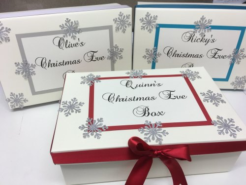 PRE FILLED PERSONALISED CHRISTMAS EVE BOX / KEEPSAKE BOX  LIMITED NUMBER AV
