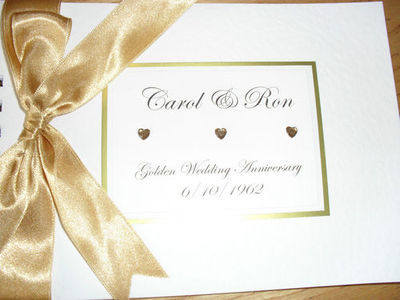 Wedding Anniversary Guest Book / Album - Personalised