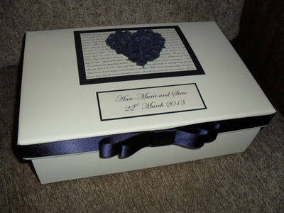 Large Personalised wedding anniversary engagement Keepsake Memory Box Gift