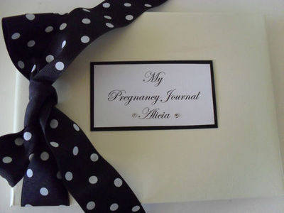 Personalised Pregnancy Journal / Personalised Baby Shower Album - Any colou