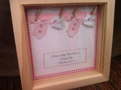 PERSONALISED CHRISTENING NAMING DAY 3D BOX PHOTO FRAME