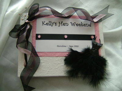 PERSONALISED HEN NIGHT GUEST BOOK / PHOTO ALBUM