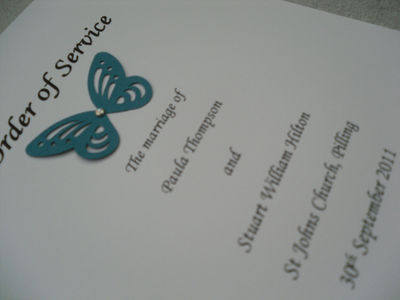 Butterfly Order of Service Cards
