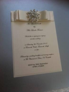Luxury Boxed Large Flower Diamante Cluster Invitation