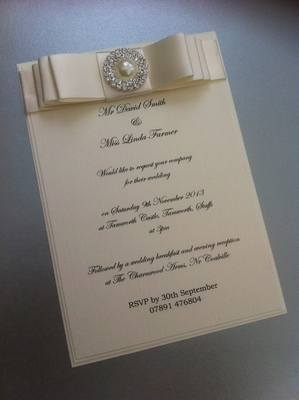 Luxury Pearl & Diamante Invitation