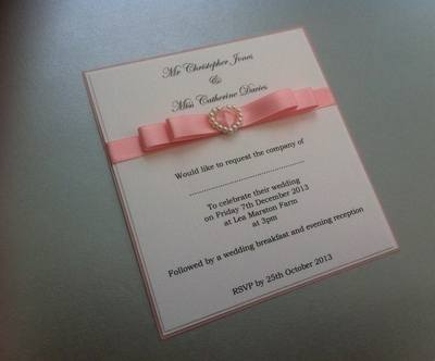 Pearl Heart Invitations