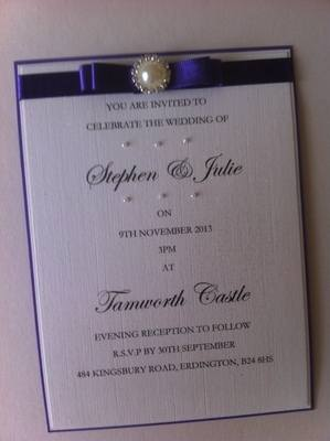 Small Pearl & Diamante Cluster Invitations