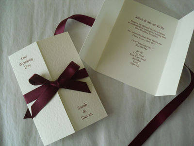 Gatefold Ribbon Invitations