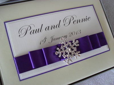 Personalised Winter Wedding Guest Book