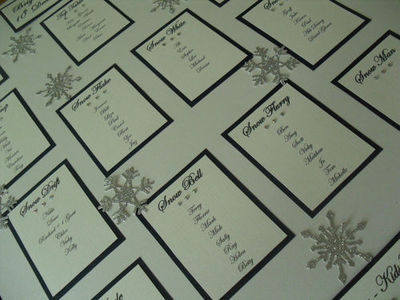 Winter Wedding Snowflake Seating Plan - A2