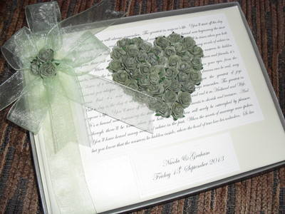 Rose Wedding Guest Book