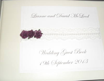Rose & Lace Wedding Guest Book