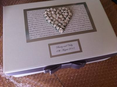 Mulberry Rose Wedding Keepsake Box